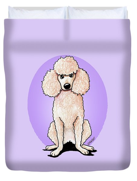 Kiniart Poodle Duvet Cover by Kim Niles