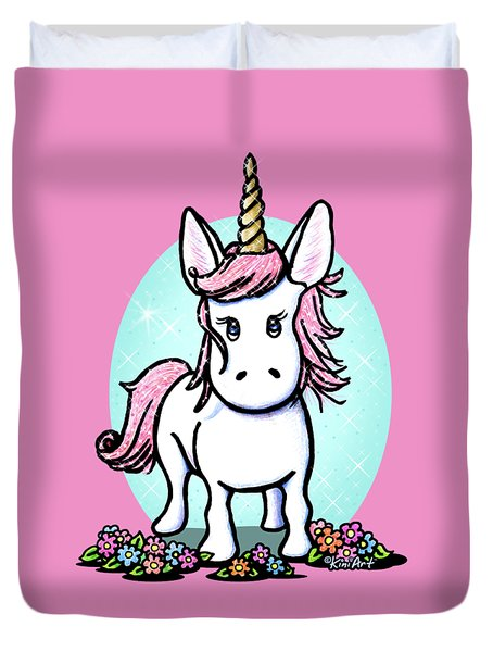 Kiniart Unicorn Sparkle Duvet Cover