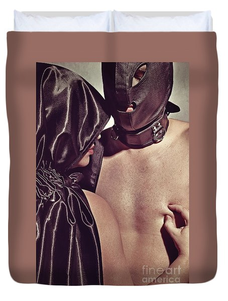 Kinky Play Man And Woman Duvet Cover