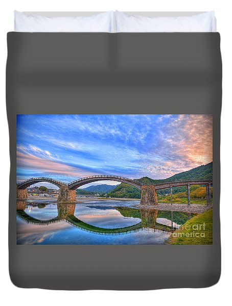 Kintai Bridge Japan Duvet Cover