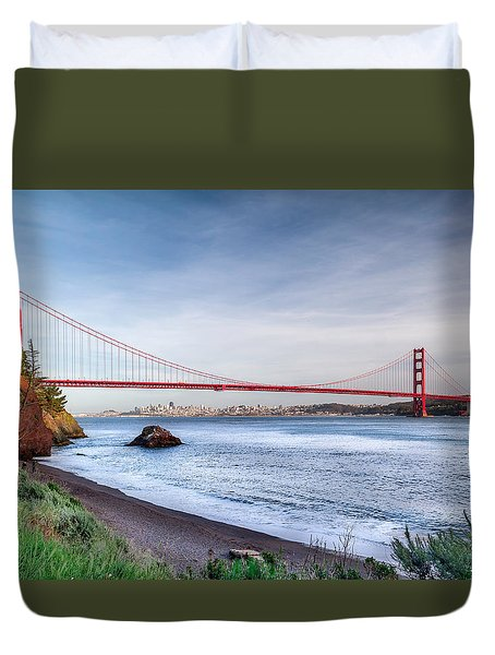 Kirby Cove Beach Duvet Cover
