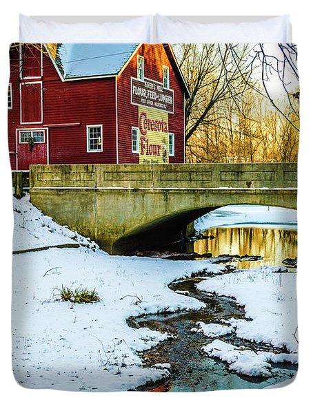 Kirby's Mill Landscape - Creek Duvet Cover