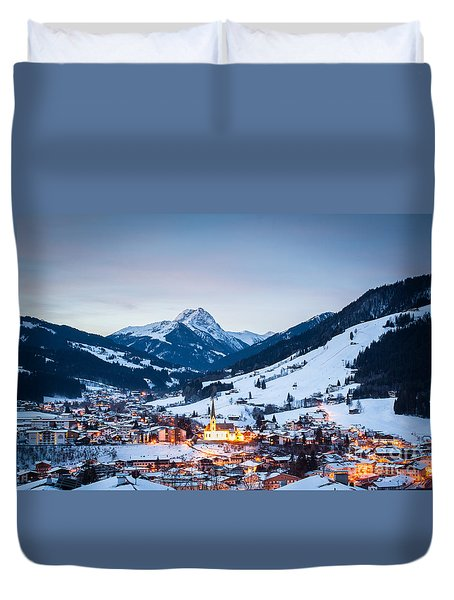 Kirchberg Austria In The Evening Duvet Cover