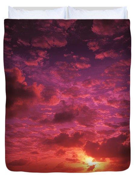 Kiribati Sunset Duvet Cover