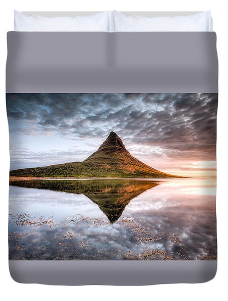 Kirkjafell Mountain Sunrise Duvet Cover