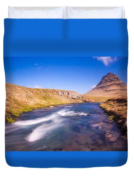 Kirkjufell Iceland Duvet Cover