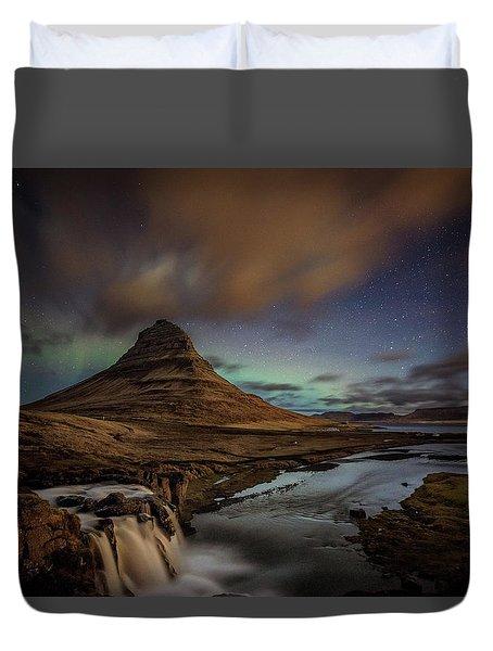 Kirkjufell Mountain Duvet Cover