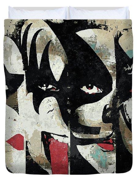 Kiss Art Print Duvet Cover
