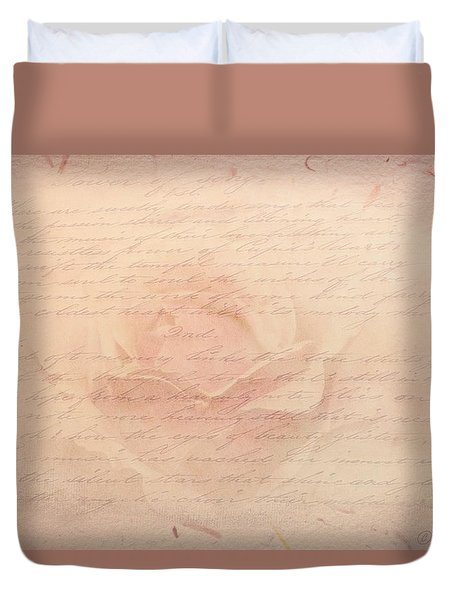 Kiss From A Rose Duvet Cover by Wallaroo Images