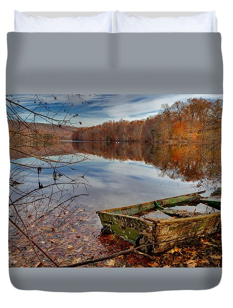 Kiss My Bass Duvet Cover by Craig Szymanski