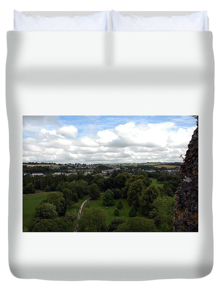 Duvet Cover featuring the photograph Kiss The Blarney Stone by Dianne Levy
