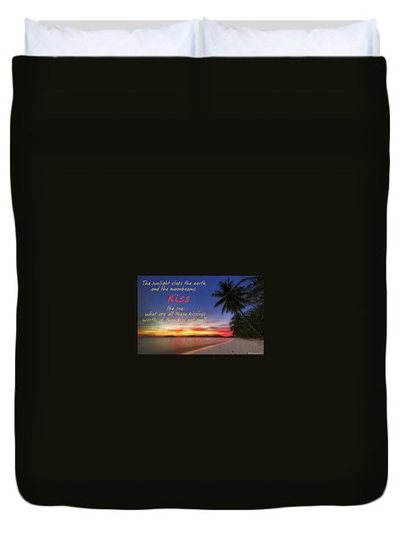 Duvet Cover featuring the photograph Kiss The Sea by David Norman