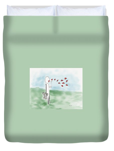 Kisses And Love   Duvet Cover