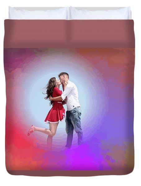 Kissing Couple Duvet Cover