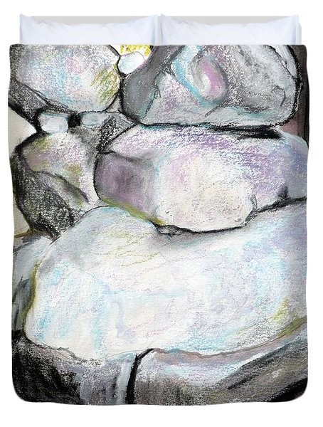 Kissing Rocks Duvet Cover by Jane Clatworthy