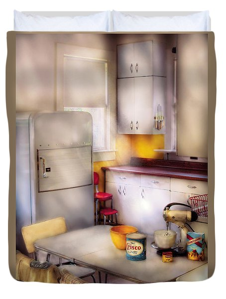 Kitchen - A 1960's Kitchen  Duvet Cover by Mike Savad