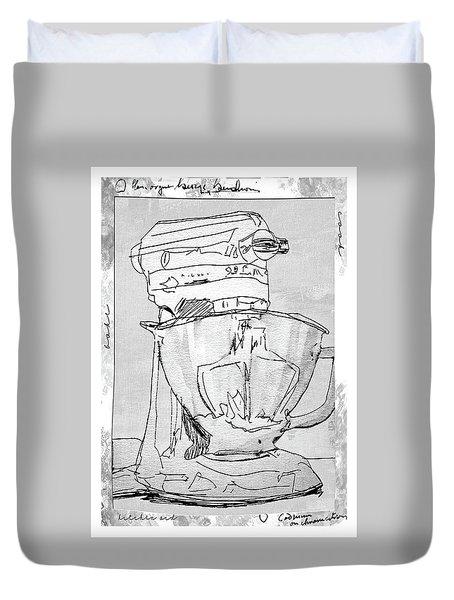 Kitchen Aid Duvet Cover by Barbara Andolsek