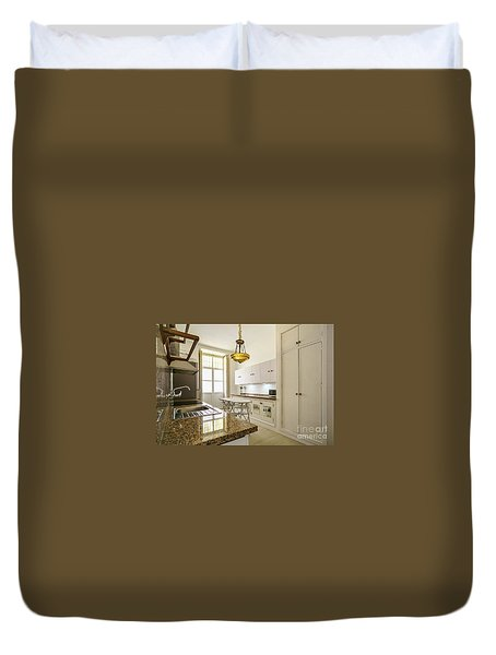 Duvet Cover featuring the photograph Kitchen Apartment In The Heart Of Cadiz by Pablo Avanzini