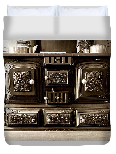 Duvet Cover featuring the photograph Kitchener by Greg Fortier