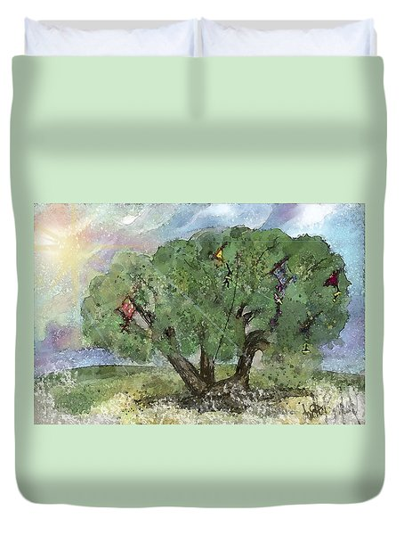 Kite Eating Tree Duvet Cover
