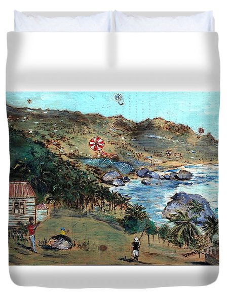 Kites At Bathsheba Duvet Cover