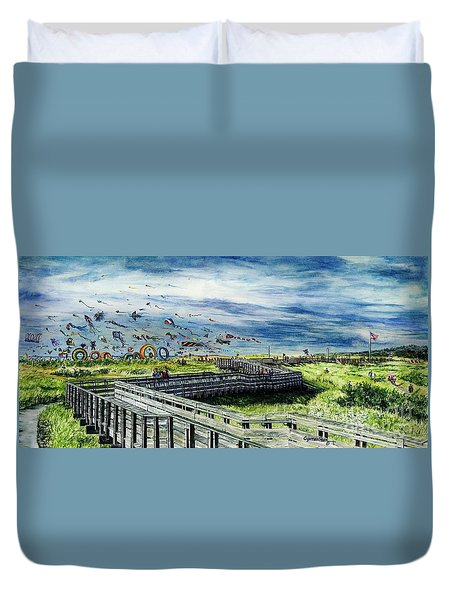 Kites Galore Duvet Cover