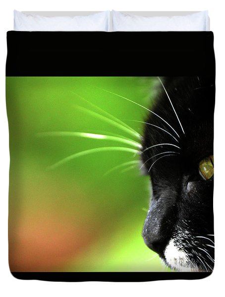 Kitkat Profile By Lesa Fine Duvet Cover