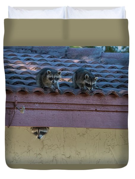 Kits On The Roof Duvet Cover