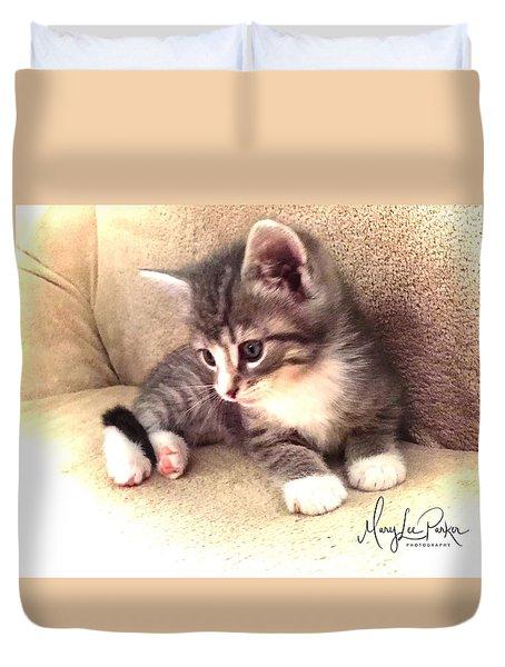Kitten Deep In Thought Duvet Cover