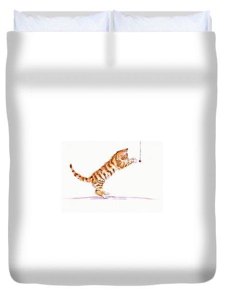 Kitten Teasing Duvet Cover