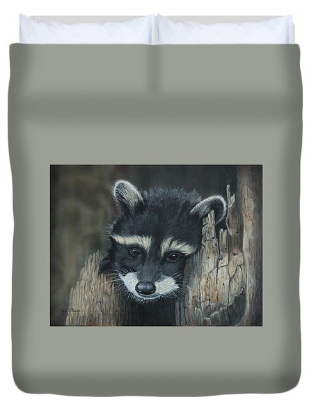 Kit...the Baby Raccoon Duvet Cover