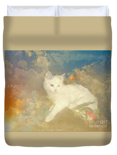 Kitty Art Precious By Sherriofpalmsprings Duvet Cover