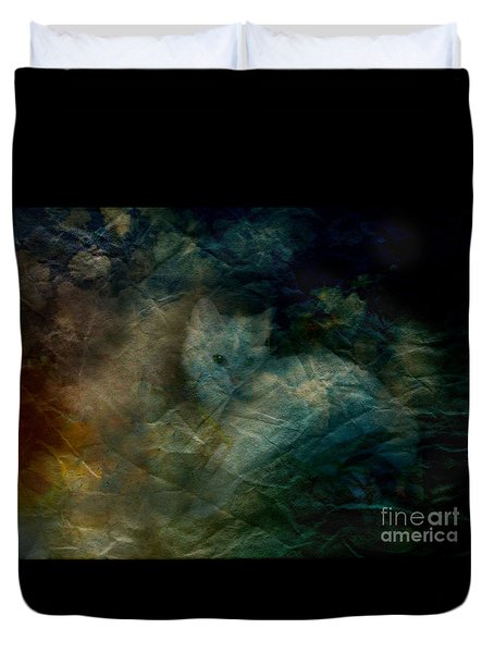 Duvet Cover featuring the photograph Kitty Art Rescue 1st Image  Please See Pg 2 By Sherriofpalmsprings by Sherri  Of Palm Springs