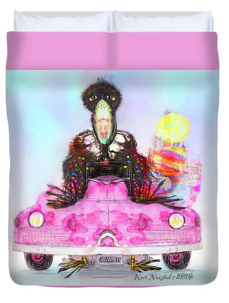 Kitty Car Crow Duvet Cover