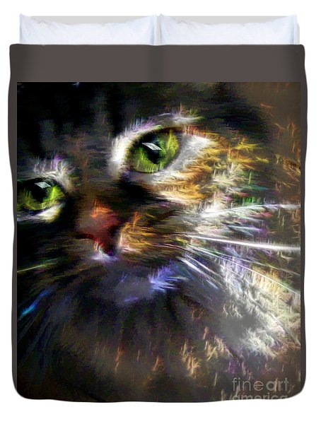 Kitty Cat Fireworks Duvet Cover