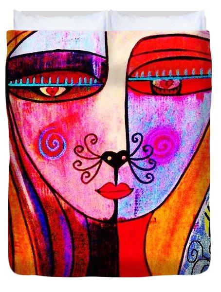 0 Kitty Cat Goddess Duvet Cover
