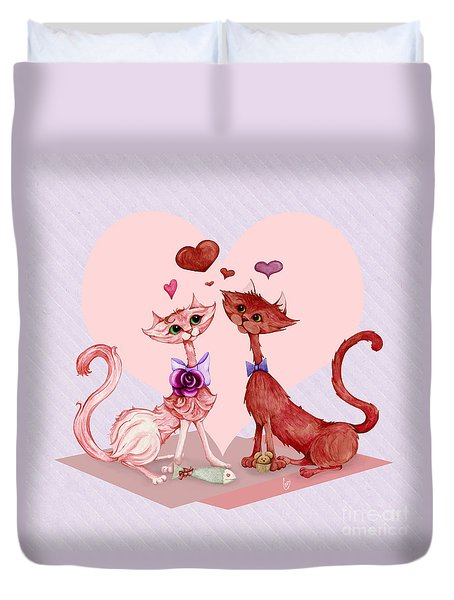 Kitty Cat Love Duvet Cover