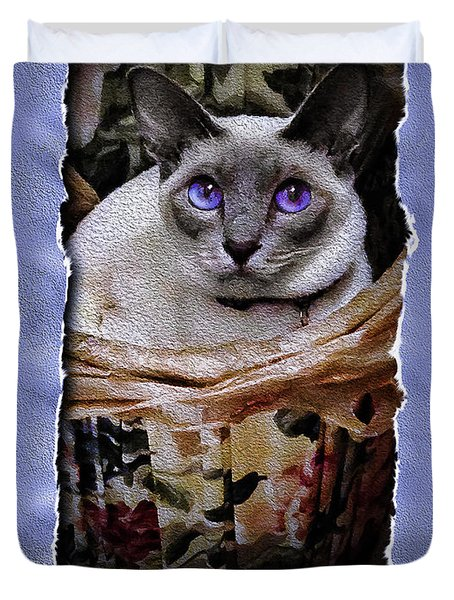 Kitty In A Basket Duvet Cover