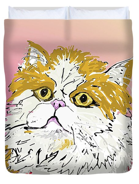 Kitty In Tuna Can Duvet Cover