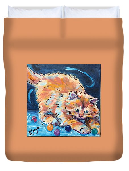 Kitty Keepsies Duvet Cover