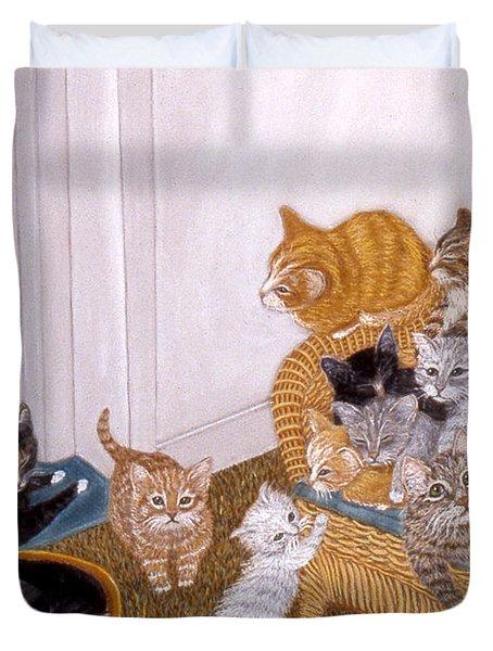 Kitty Litter II Duvet Cover