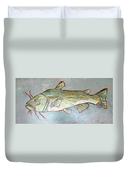 Kitty The Catfish Duvet Cover