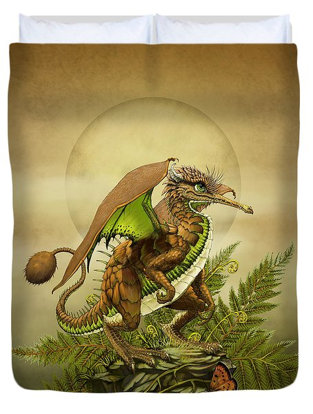 Kiwi Dragon Duvet Cover by Stanley Morrison