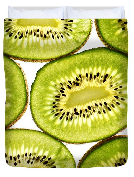 Kiwi Fruit II Duvet Cover by Paul Ge
