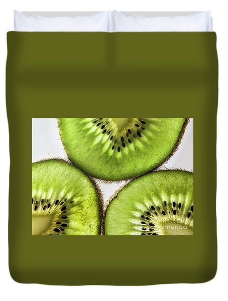 Kiwi Duvet Cover by Shirley Mangini