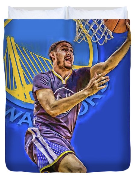Klay Thompson Golden State Warriors Oil Art Duvet Cover