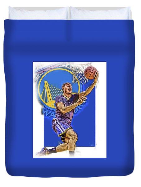 Klay Thompson Golden State Warriors Oil Art Duvet Cover