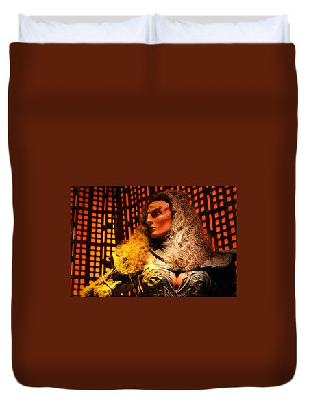 Duvet Cover featuring the photograph Klingon by Kristin Elmquist