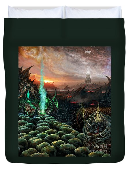 Kneel Away Your Power Duvet Cover by Tony Koehl