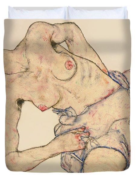 Kneider Weiblicher Halbakt Duvet Cover